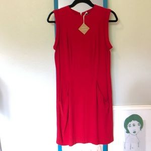 Zara Women's Red Dress - Size Medium